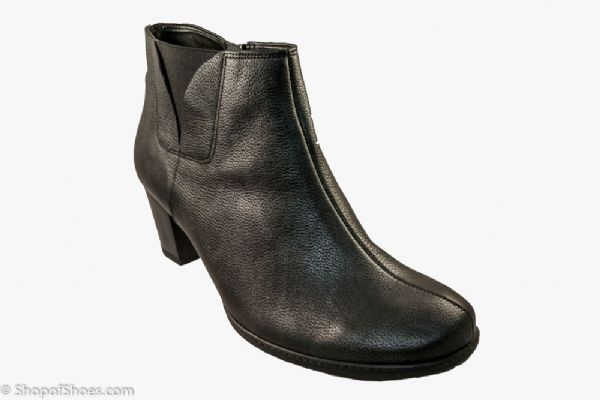 Alpina Gwen stunning almost Black heeled zip ankle boot.